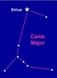 Star map of Canis Major
